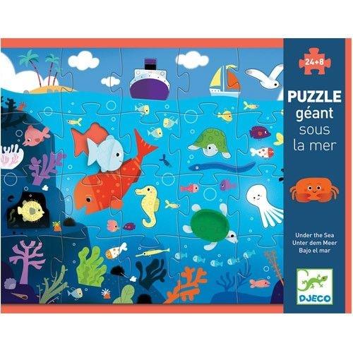 Djeco Djeco Puzzle Géant - Diep in de zee - 70x50 cm  3y+