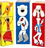 Djeco Djeco Blokken Puzzel - Grappige dieren - 9 pcs  3y+