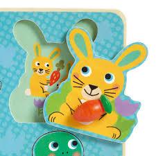 Djeco Djeco Knopjes puzzel - Croc-Carrot  12m+