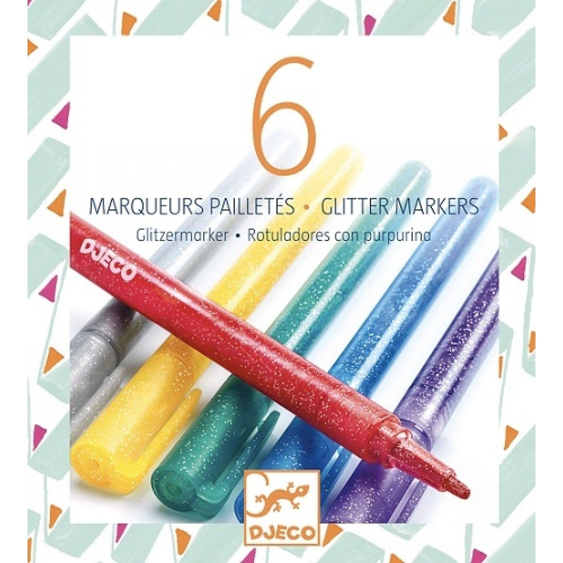 Djeco Djeco Glitter Stiften - 6 kleuren