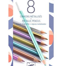 Djeco Djeco Metallic Potloden - 8 stuks