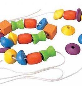 Plan Toys PlanToys Kralen rijgen - leren rijgen - 30 stuks  3Y+