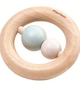 Plantoys Plantoys  Babyspeelgoed Houten Bijtring en Rammelaar - Pastel