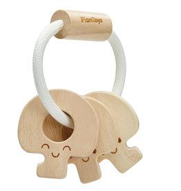 Plantoys Plantoys  Babyspeelgoed Houten Sleutel Rammelaar - Naturel