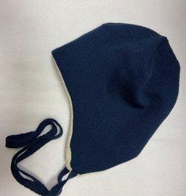 Reiff SALE! Reiff Muts Merino wol met katoenen plusch voering - Marine