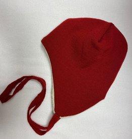 Reiff SALE! Reiff Muts Merino wol met katoenen plusch voering - Rood