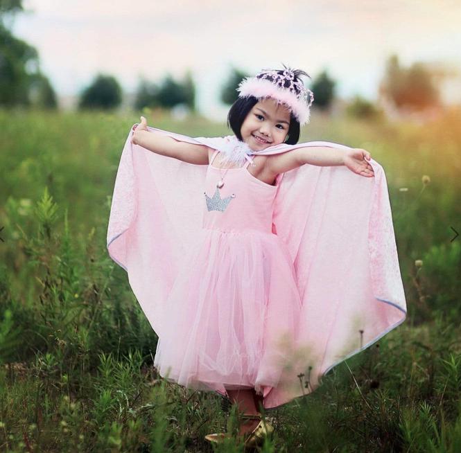 Great Pretenders Great Prentenders  - Princessen jurk met kroon - Roze