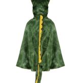 Great Pretenders Great Prentenders  - Dino T-Rex hooded cape - Groen