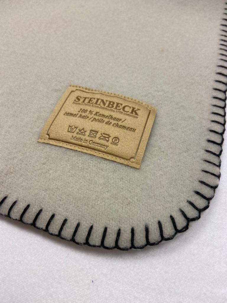 Steinbeck Deken 100% Wol model INN - Zilver