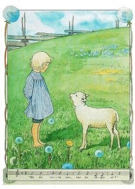 Elsa Beskow, Pelle met zijn lam (16083)