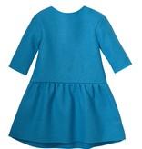 Disana Disana fijn gebreid jurkje - Merinoswol - Caribisch blauw (221)