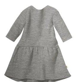 Disana Disana fijn gebreid jurkje - Merinoswol - Kieselgrijs (120)