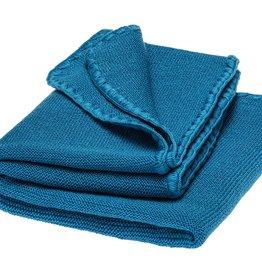 Disana Disana Wollen Zomerdeken - Omslagdoek en Babydeken - Caribisch blauw (221)