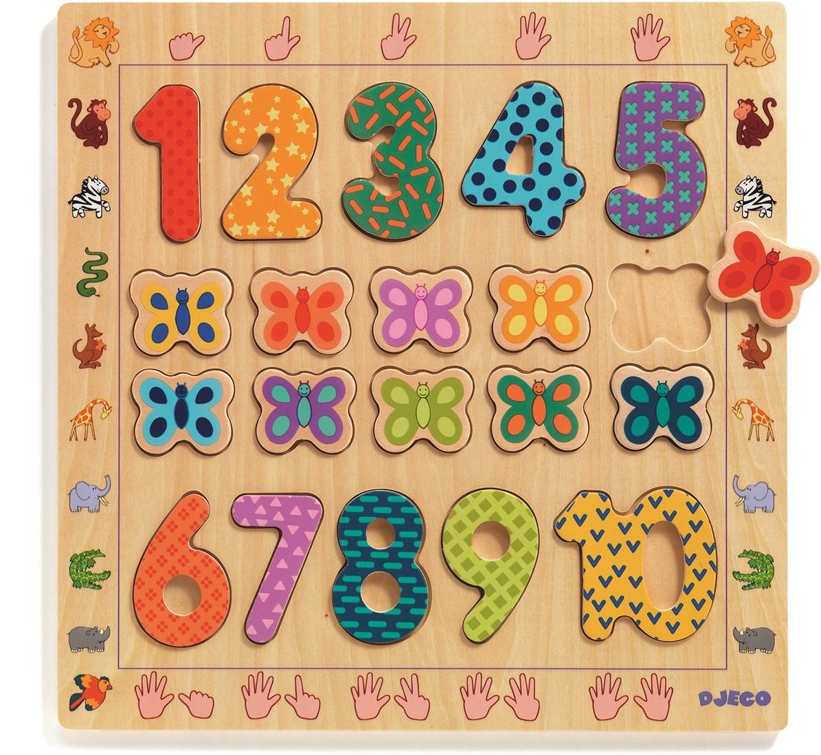 Djeco Djeco Puzzle Educatief - Cijfer 1 t/m 10 - 2Y+