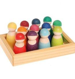 Grimms Grimms Regenboogvrienden - Regenboog kleuren - 12 popjes