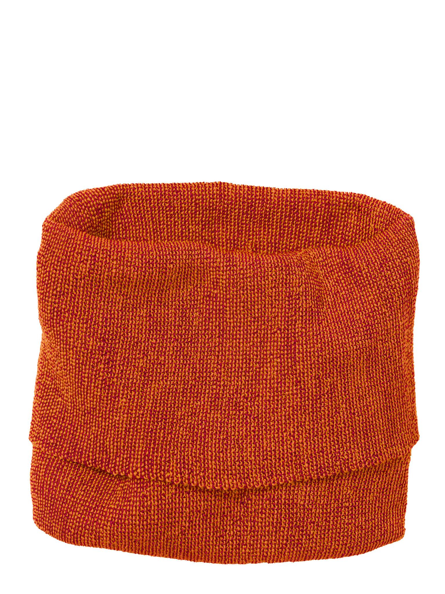 Disana Disana Tube scarf -100% wol - Orange/Bordeaux (973)