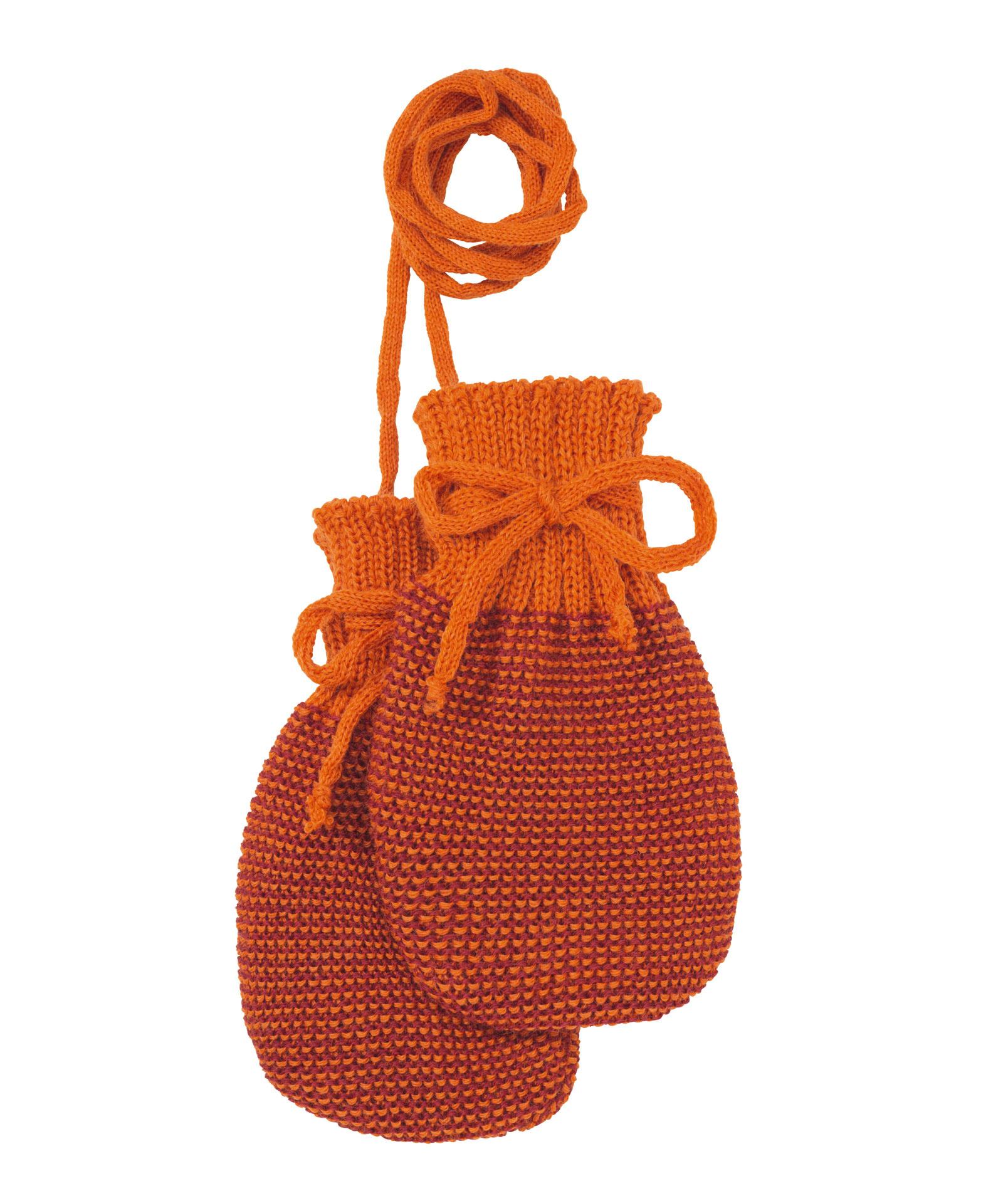 Disana Disana baby wantjes - Orange/Bordeaux (973)