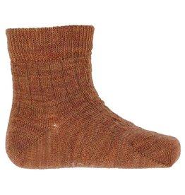 Joha Joha dunne wollen sokken - Rib - Koper (60014)