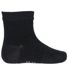 Joha Joha dunne wollen sokken - Glad - Zwart (60311)