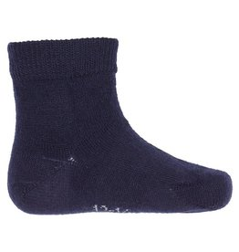 Joha Joha dunne wollen sokken - Glad - Marine (60013)