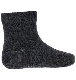 Joha Joha dunne wollen sokken - Glad - Antraciet (65205)