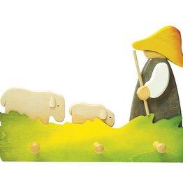 Ostheimer Kapstok 3 haken Herder met schapen