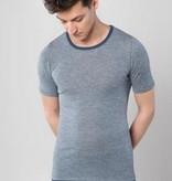 Living Crafts Heren korte mouw wol/zijde Onderhemd 4762