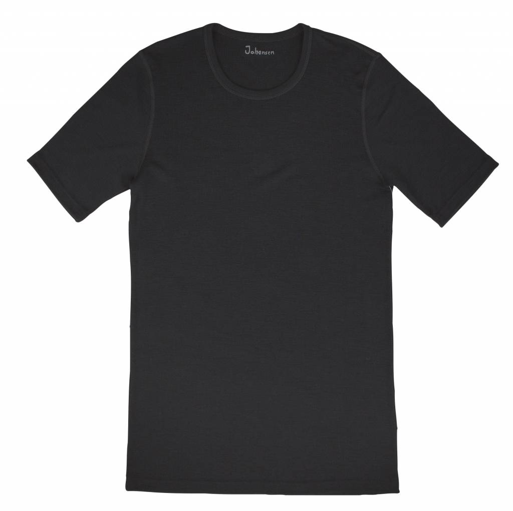 Johansen Johansen T-shirt Merinowol - Zwart (311) Collectie Christopher