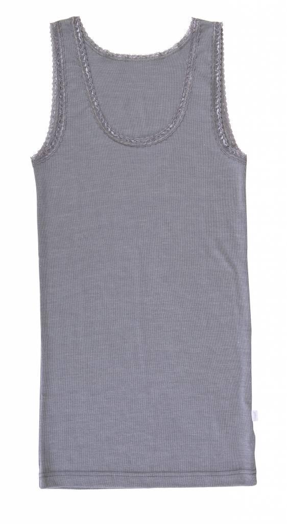 JOHA Joha Wol/zijde Onderhemd Grijs melange 72244