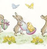 Molly Brett Three Rabbits with Easter PCE 122