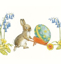 Molly Brett Rabbit pushing an Easter Egg PCE 125