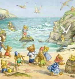 Poster Molly Brett Teddy Bear Beach
