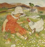 Poster Muriel Dawson Fun with the Chicks