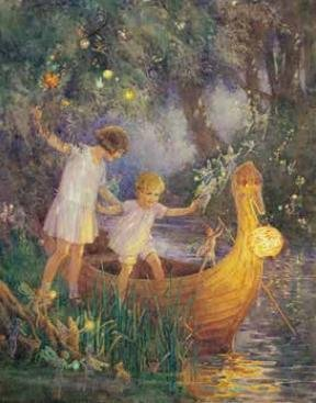 Poster Margaret Tarrant, The Boat to Fairyland