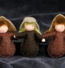 Roemeense Vingerpopjes Set van 3 Wortelkindjes Seed Dolls Set