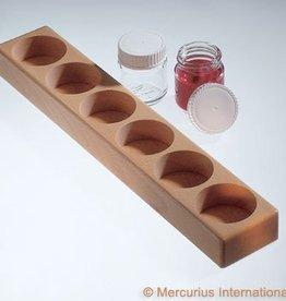 Verfpotblokhouder voor 6 glazen potjes 50ml