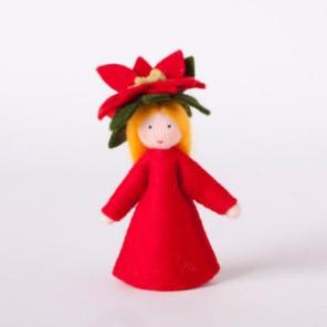 Roemeense Vingerpopjes Kerstster - Poinsettia