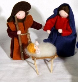 Roemeense Vingerpopjes Jozef en Maria set Holy Family with 2 sheep