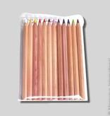 Yorik kleurknots 6-kant ongelakt assortiment 12 stuks