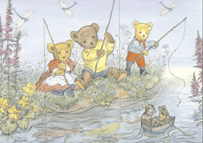 Molly Brett, Teddies Fishing PCE 047 Ansichtkaart