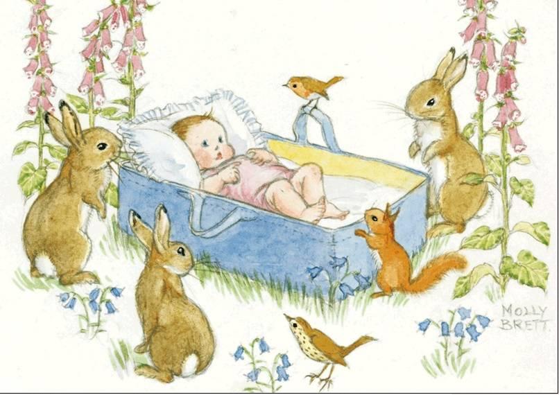 Molly Brett, An Adorable Newborn Baby PCE 053 Ansichtkaart