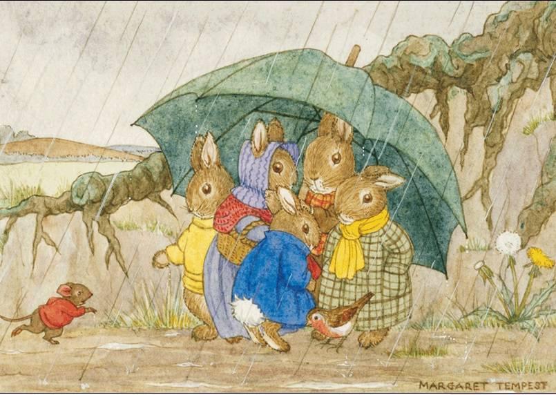 Margaret Tempest, Shelter from the Rain PCE 057 Ansichtkaart