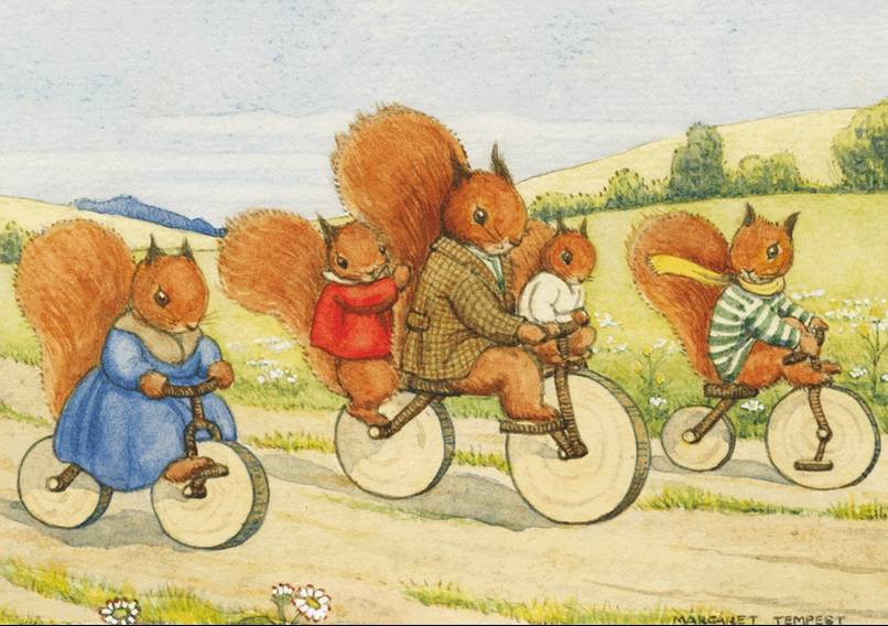 Margaret Tempest, The Bicycle Ride PCE 058 Ansichtkaart