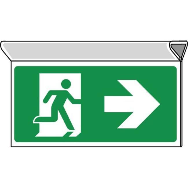 Pikt-o-Norm Veiligheidspictogram nooduitgang rechts
