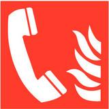 Veiligheidspictogam telefoon brand