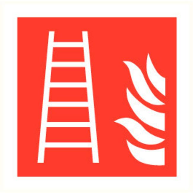 Brandbeveiligingshop Veilgheidspictogram brandladder