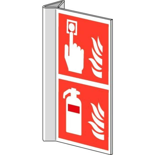 Pikt-o-Norm Veiligheidspictogram combi brandmelder brandblusser