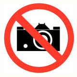 Veiligheidspictogram verboden te fotograferen