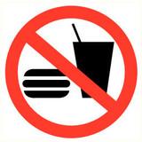 Veiligheidspictogram verboden te eten
