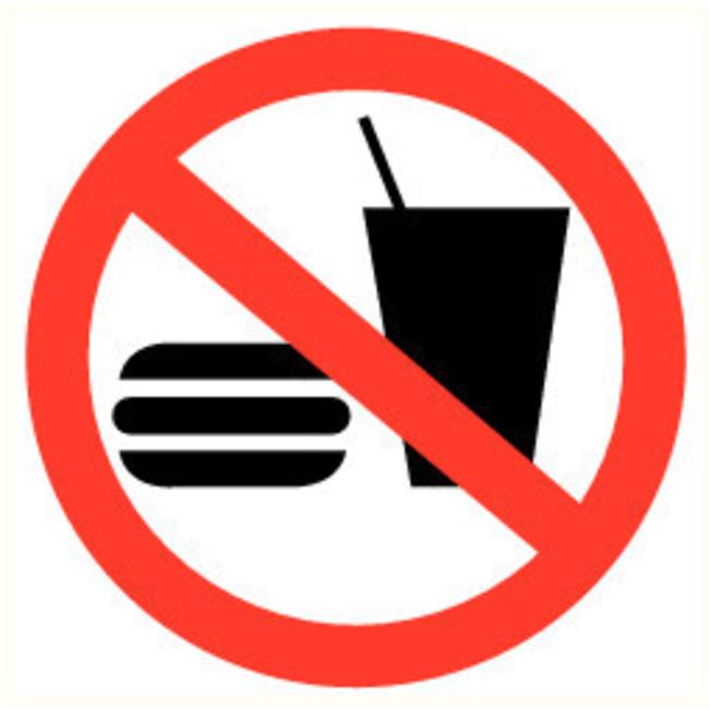 Pikt-o-Norm Veiligheidspictogram verboden te eten